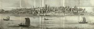 Город Самара. Гравюра по рисунку Джона Кэстля. Вторая половина 1730-х гг