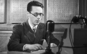 Юрий Левитан выступает по радио.