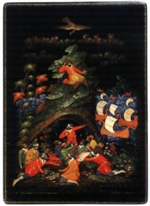 «Есть на Волге утес», шкатулка. 1935 г. Художник А. И. Ватагин